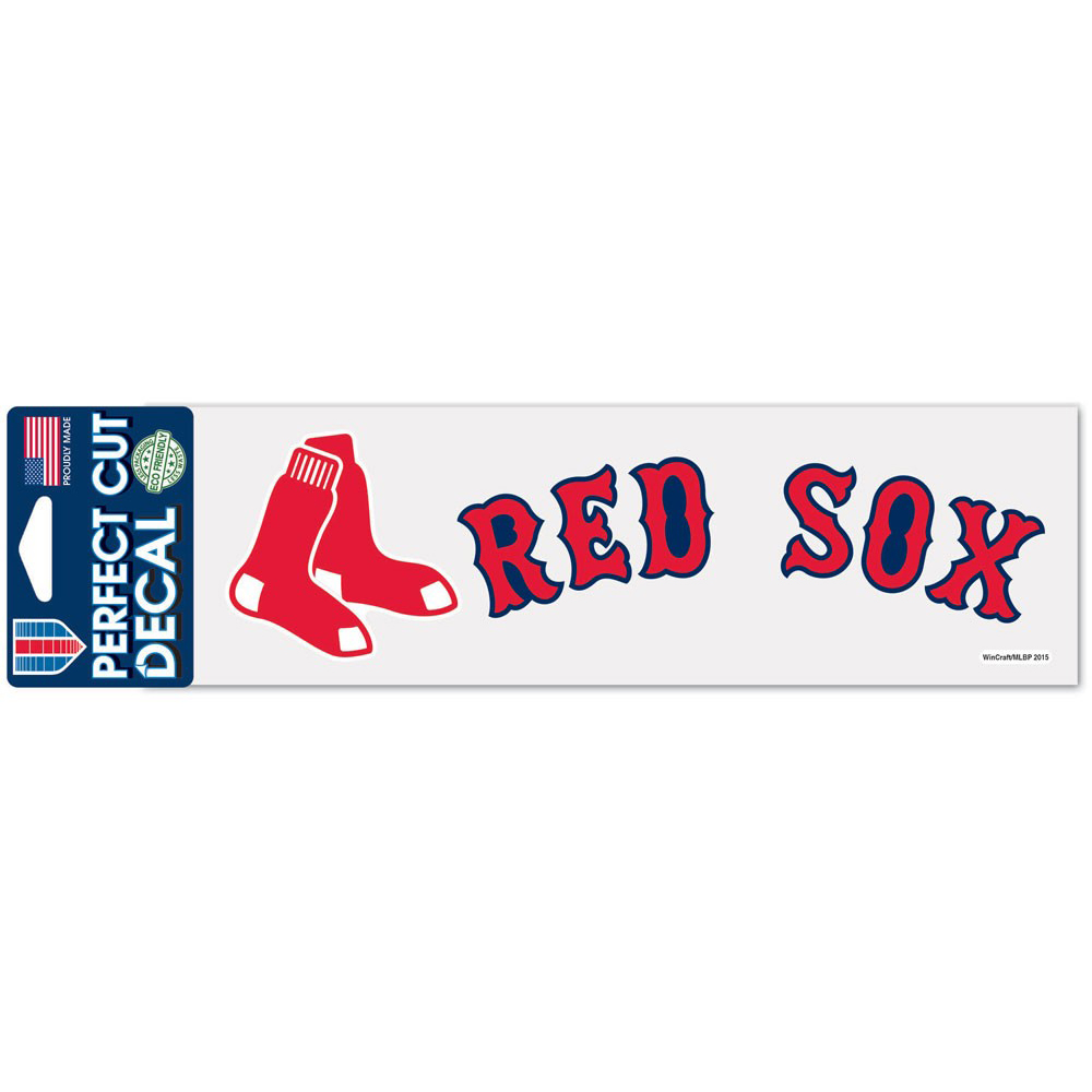 "Boston Red Sox WinCraft 3"" x 10"" Logo & Name Perfect Cut Decal - No Size"