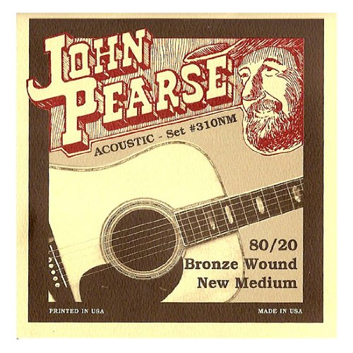 John Pearse 310NM Bronze Acoustic Guitar Strings, by