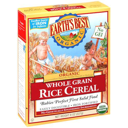 Earth's Best Organic Whole Grain Rice Cereal, 8 oz