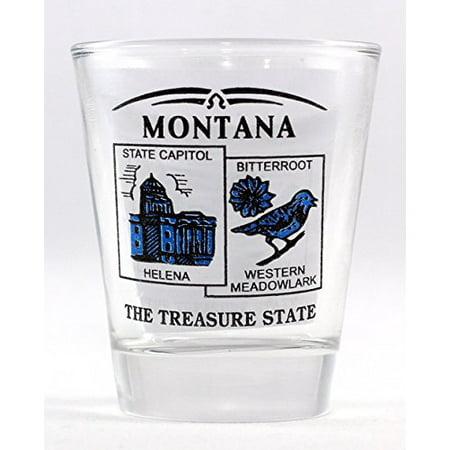 Montana State Scenery Blue New Shot Glass
