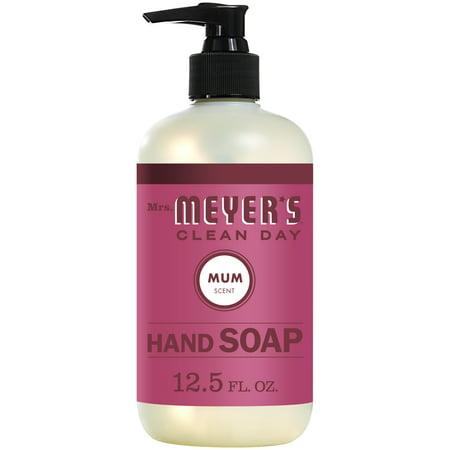 Mrs. Meyer's Clean Day Liquid Hand Soap Bottle, Mum Scent, 12.5 fl oz