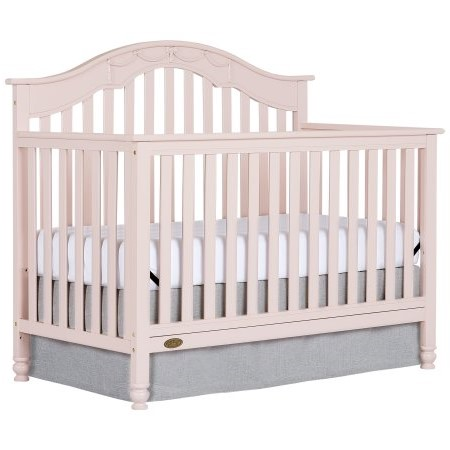 Dream On Me Charlotte 5-in-1 Convertible Crib Blush Pink