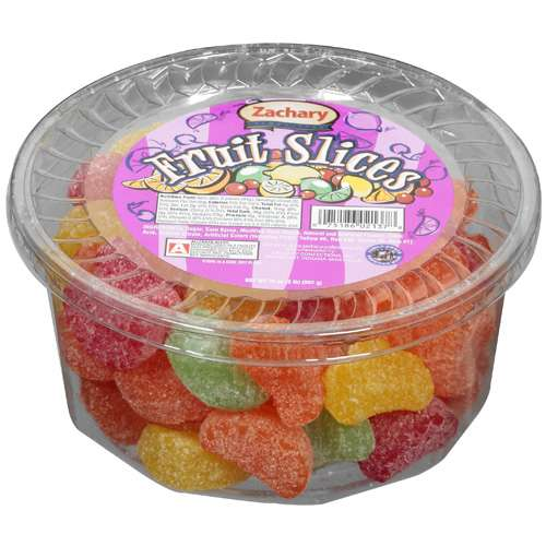 Zachary: Multi Colored/Coated In Sugar Fruit Slices, 32 oz