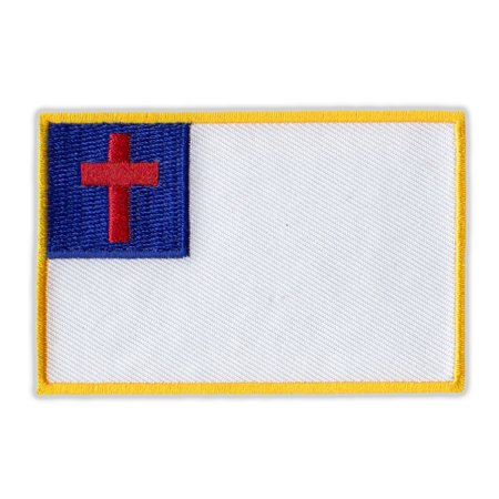 Motorcycle Jacket Embroidered Patch - Christian Flag - Vest, Cut, Leathers - 3