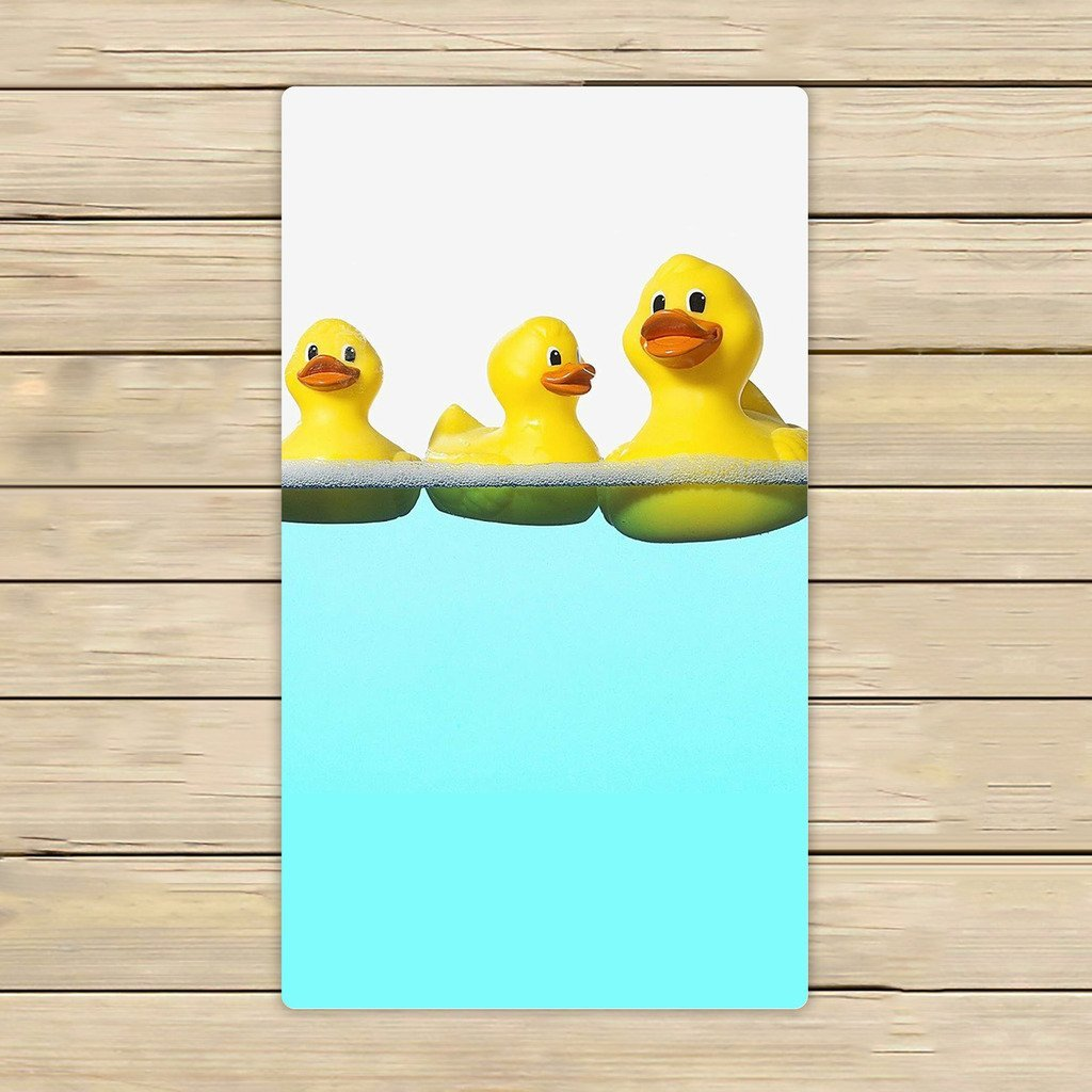 Tiled Yellow Rubber Ducky Hand Towel