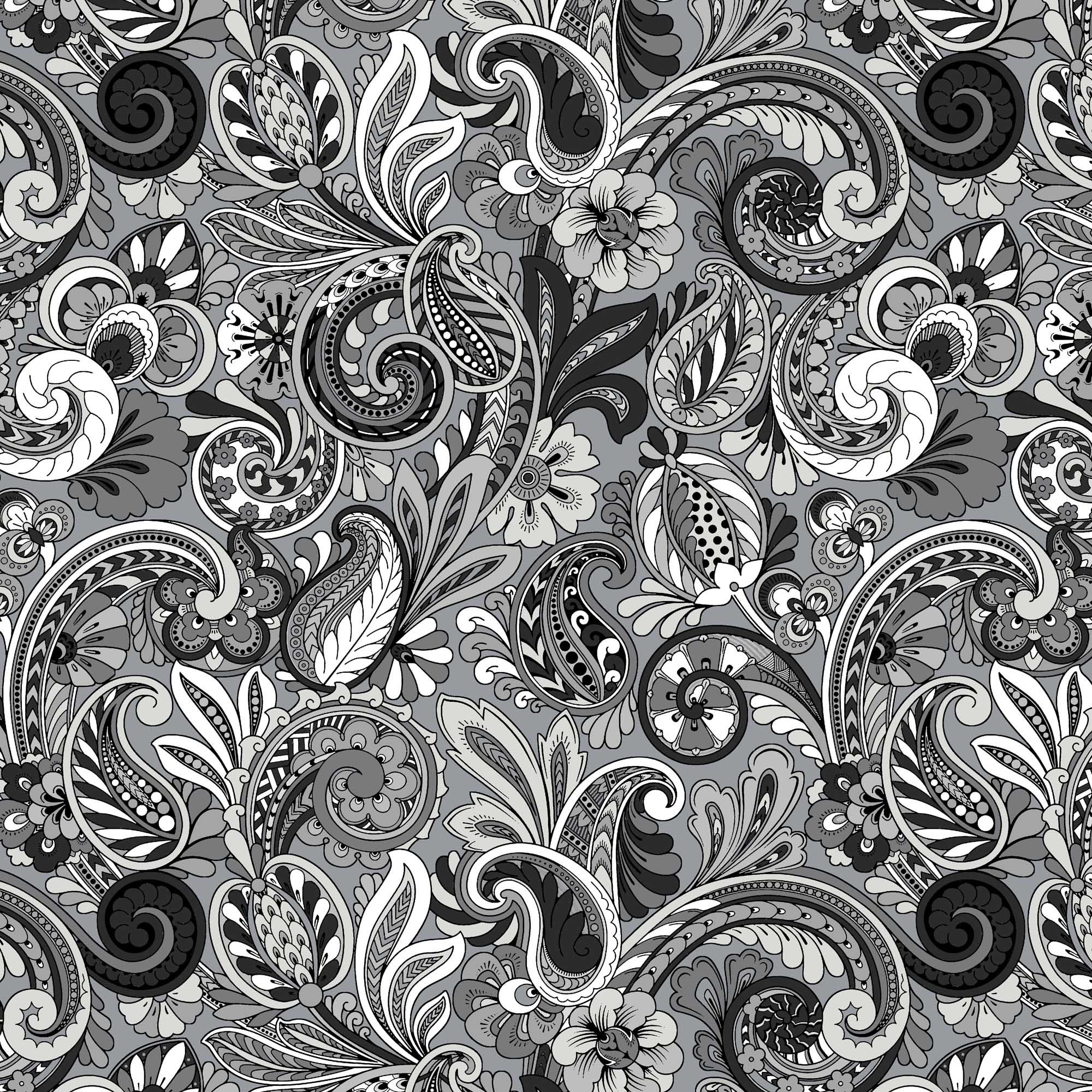 David Textiles Cotton Precut Fabric Paisley Sorbet 1 Yd X 44 Inches