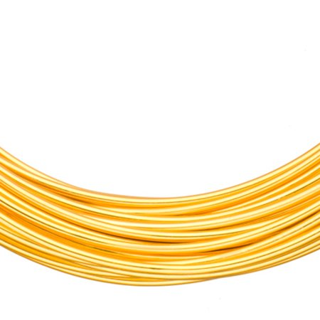 Aluminum Beading Wire, Anodized Gold 12 Gauge 48-foot coil jewelry wire