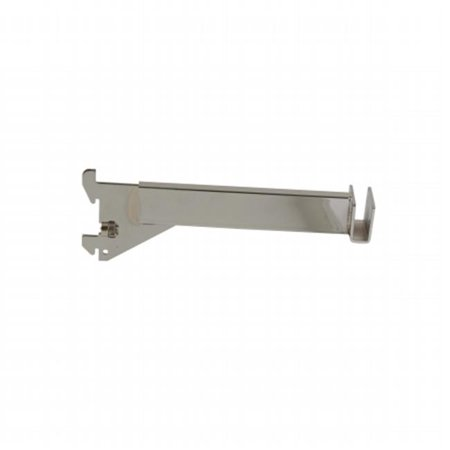 """Econoco - GR8 - 8"""" Chrome Hangrail Bracket to Hold Rectangular Tubing For Imperial Line - Sold in Pack of 23"""