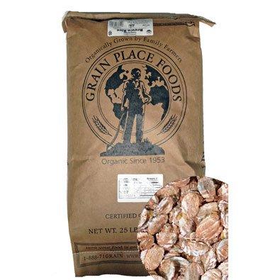 Bulk Grains 100% Organic Rolled Rye Flakes Bulk 25 Lb (Pa...