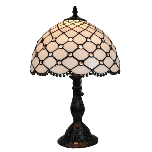 Amora Lighting AM120TL12 Tiffany Style Jewel Table Lamp 19 Inches Tall