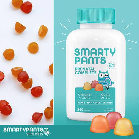 SmartyPants Prenatal Complete, 240 Adult Gummies