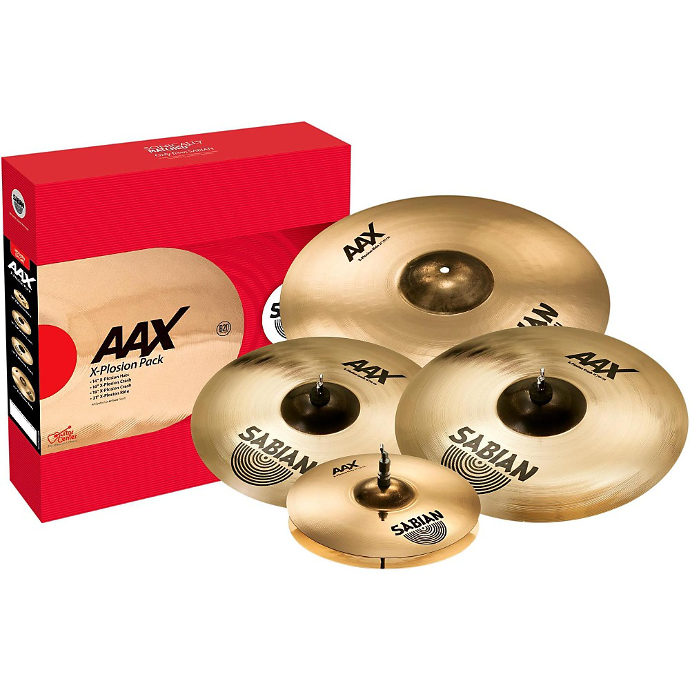 "Sabian 25005XXP AAX Limited Edition Performance Cymbal Set w/ FREE 18"" X-Plosion Crash Cymbal"