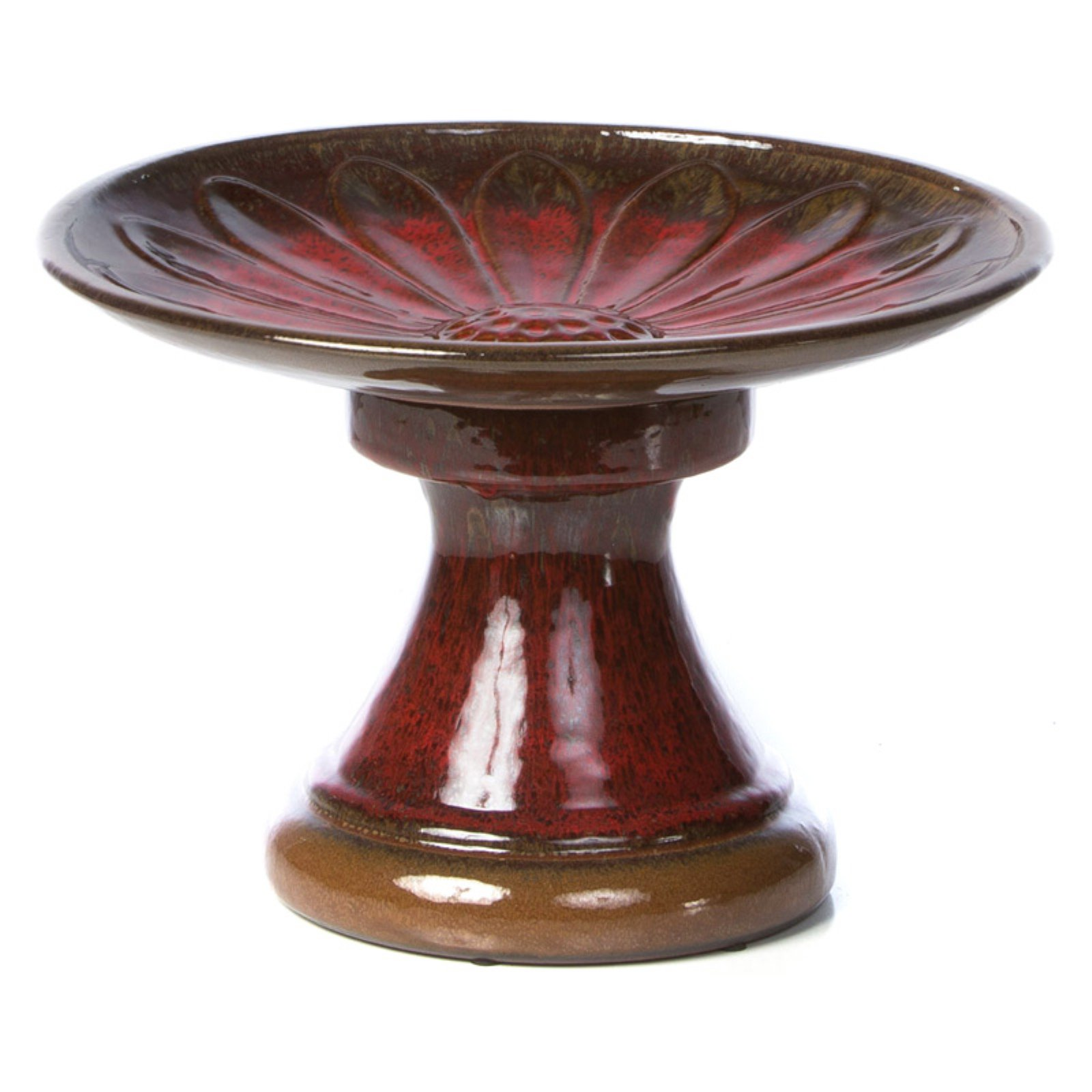 Alfresco Home Daisy Ceramic Birdbath
