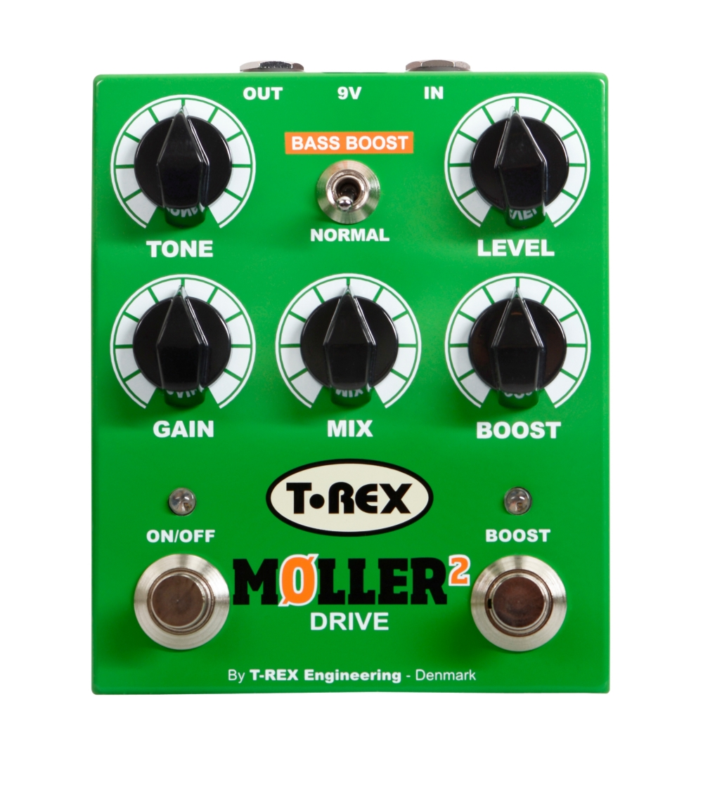 T-Rex Engineering Moller 2 Overdrive Pedal With Clean Boost by T-Rex Engineering