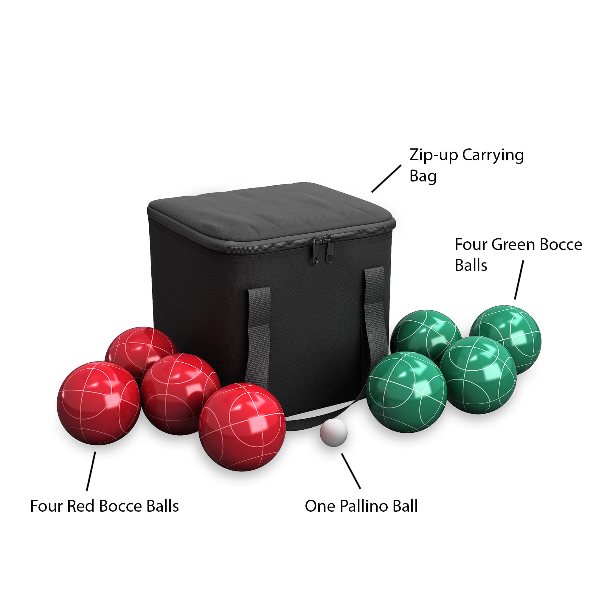 bocce ball set outdoor family bocce game for backyard lawn beach