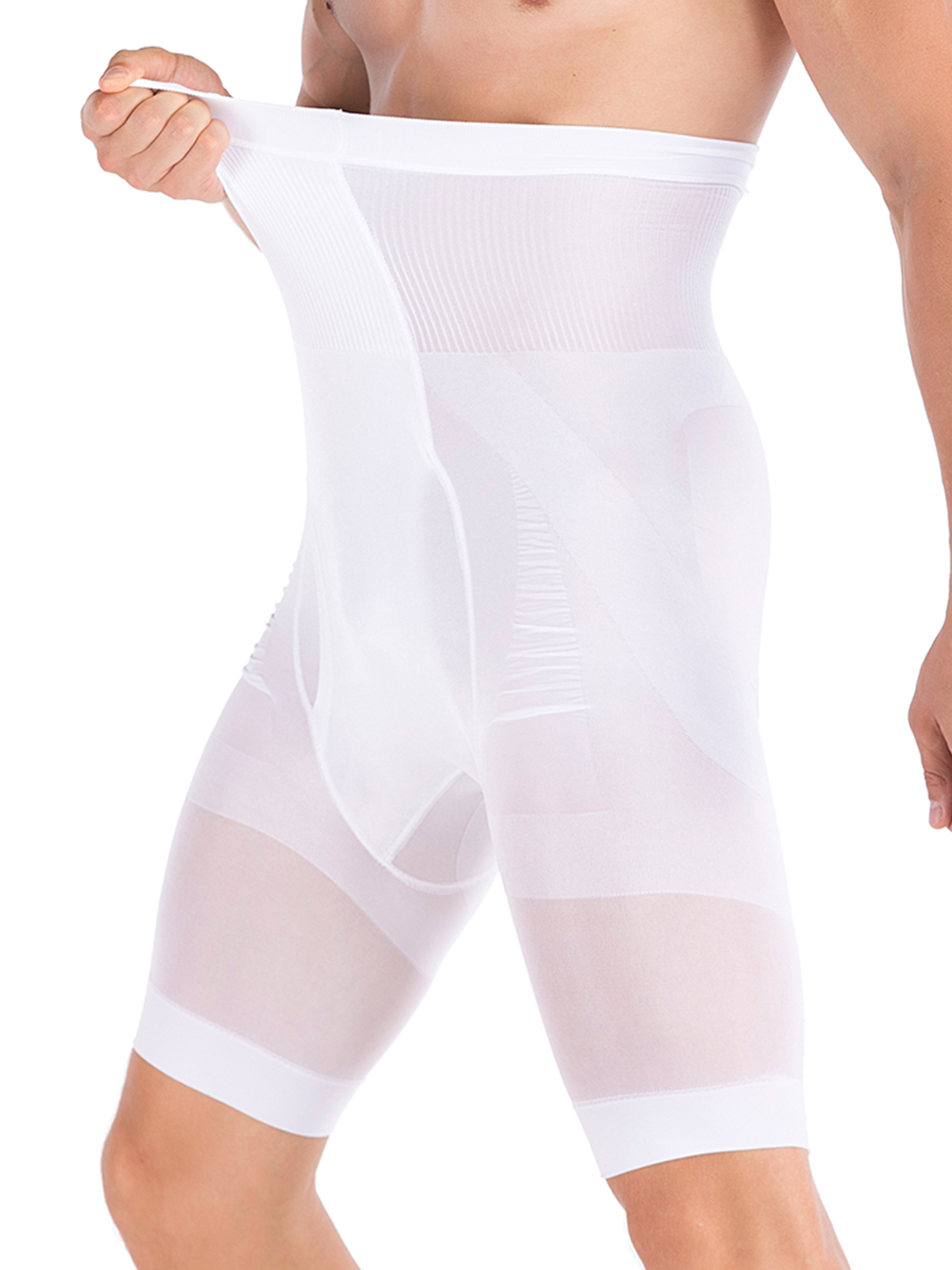 Mens ummy Control Slimming Shapewear Body Shape T Shorts High Waist Abdomen Slim