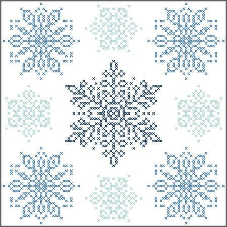 Herrschners® Winter Flurries Quilt Blocks Stamped Cross-Stitch