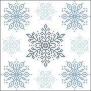 Herrschners® Winter Flurries Quilt Blocks Stamped Cross-Stitch