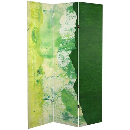 6 ft. Tall Double Sided Green River Canvas Room Divider ()