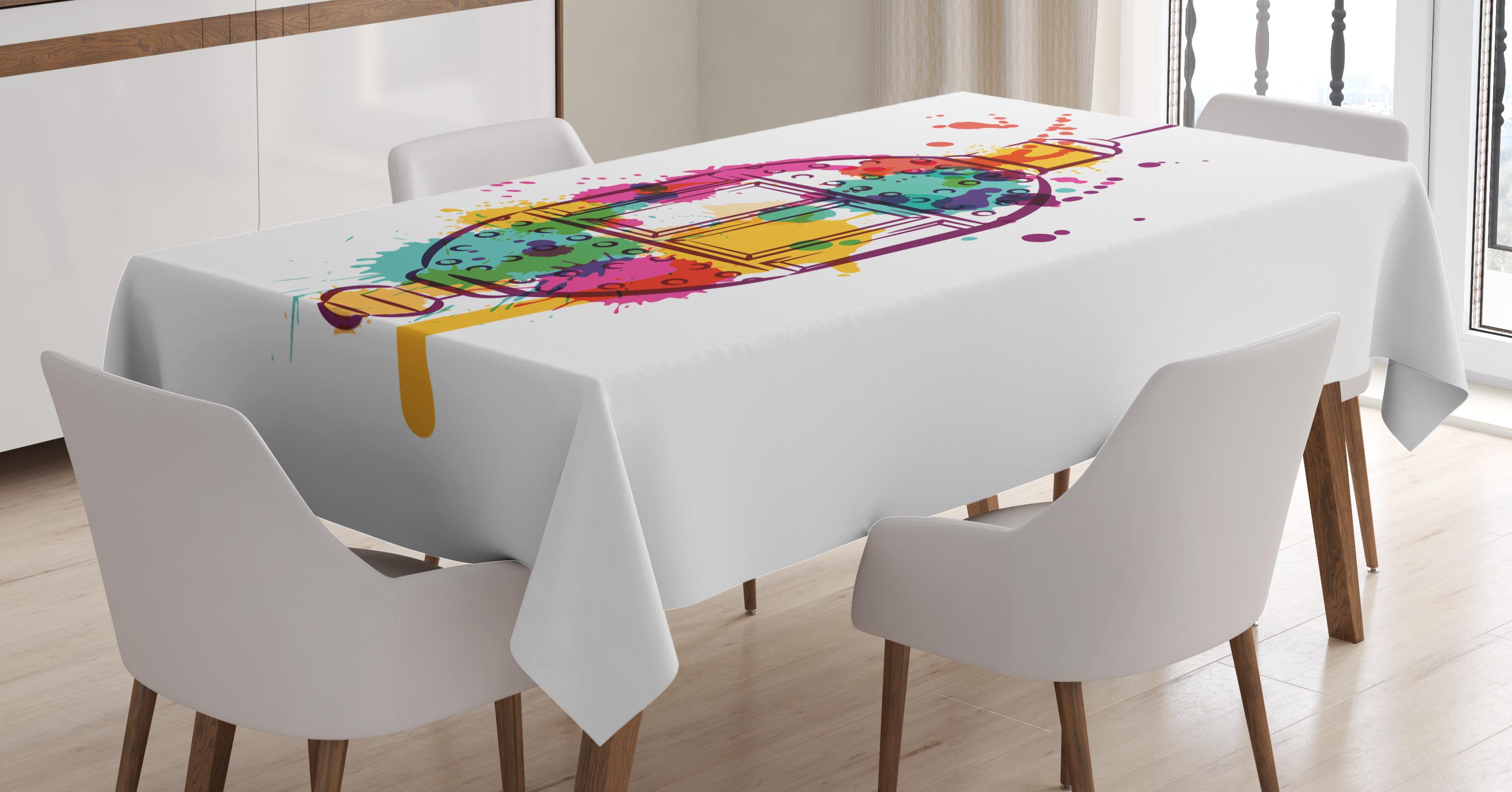 Lantern Tablecloth, Multicolored Ramadan Kareem Celebration IMage Muslim... by Kozmos
