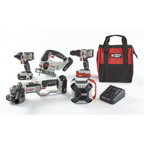 Porter-Cable PCCK616L4-CPO 20V MAX 1.3 Ah Cordless Lithium-Ion 5-Tool Combo Kit with 3 Batteries by