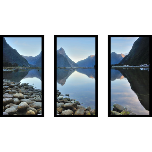 Picture Perfect International ''Water Rocks'' 3 Piece Framed Photographic Print Set