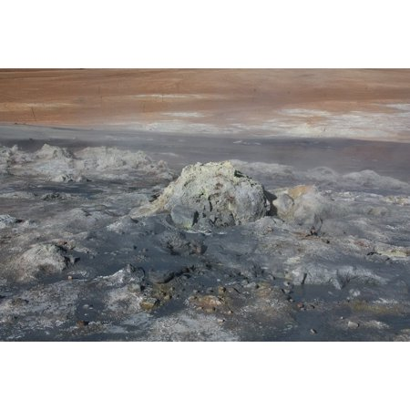 - Peel-n-Stick Poster of Iceland Volcanism Hverir Bubble Namafjall Mud Pot Poster 24x16 Adhesive Sticker Poster Print