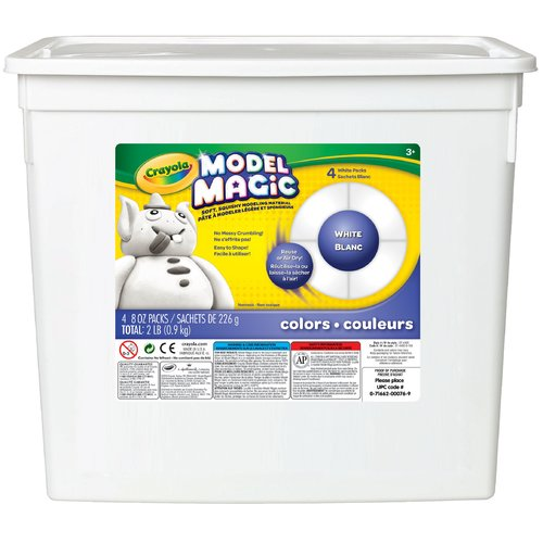 Crayola Model Magic Modeling Compound, 8 oz each packet, White, 2 lbs. by Crayola