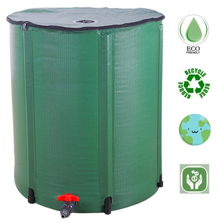 Ktaxon Rain Barrel Outdoor Patio Water Storage Barrel 66 Gallon (Gallon Water Storage Barrel)