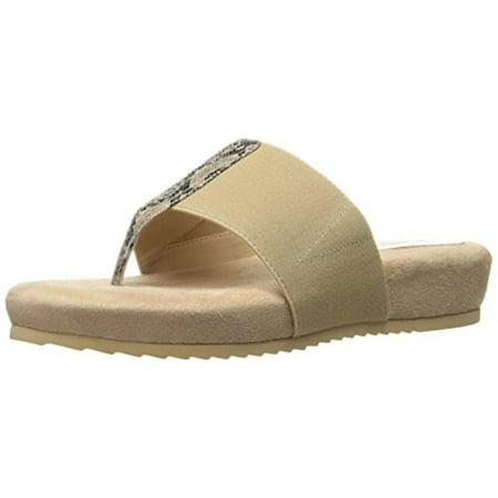 Print Slide - Annie Shoes Womens Jana Snake Print Slide Thong Sandals