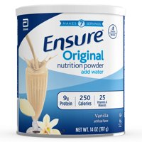 Ensure Original Nutrition Powder with 9 grams of protein, Meal Replacement, Vanilla, 14 oz