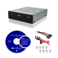 LG WH14NS40-KIT Super Multi Blue Internal 14x Blu-ray Disc Re-Writer Bundle + LG CyberLink Burning Software + Installati