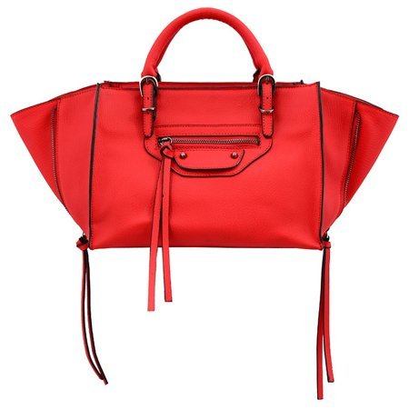 - Mellow World  Kailyn Small Red Convertible Satchel/Crossbody Handbag
