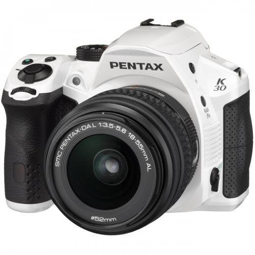 Pentax K30 16 Megapixel Digital SLR Camera with Lens Kit - White