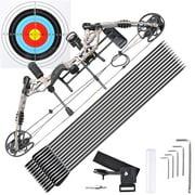 Yescom Pro Compound Right Hand Bow Kit w/ 12pcs Carbon Arrow Archery