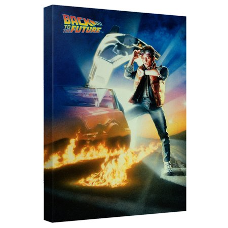 Back To The Future Bttf Poster Canvas Wall Art With Back Board White