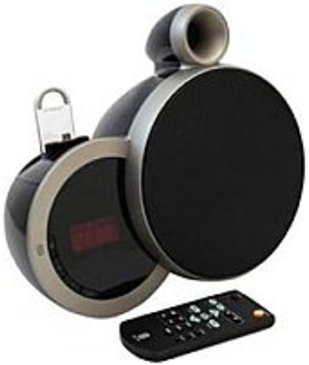Sherwood DS-N10A BA 2.0 Speaker System Wireless Speaker Clock Radio Dock with Android Devices Cradle Black by Sherwood