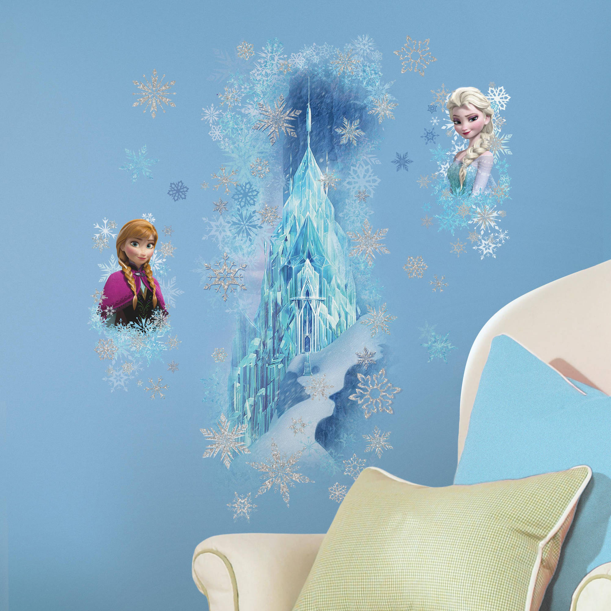 Frozen Ice Palace W/ Elsa And Anna Giant