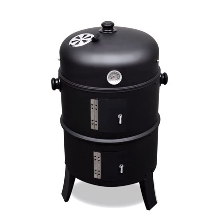 2019 New Metal BBQ Grill Roaster Smoker Charcoal Barbecue Fumes Furnace Outdoor Cooking Camping BBQ (Best Grill On The Market 2019)