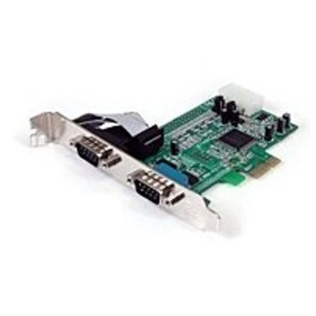 Refurbished StarTech PEX2S553 Serial Adapter Card with 16550 UART - 2-Port  - PCI Express - RS232 - Green