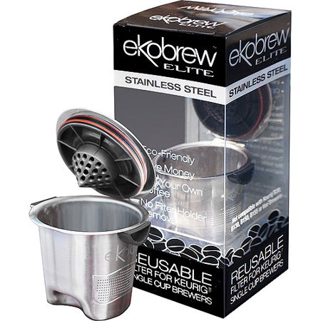 Ekobrew Elite Reusable KCup Stainless Steel Reusable Keurig Kcup (Best K Cup Reusable Coffee Filter)