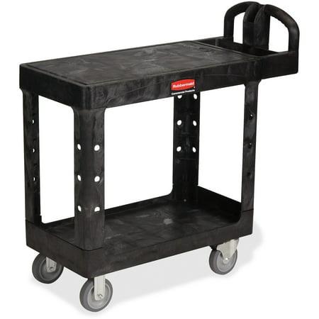 Rubbermaid Commercial, RCP450500BK, HD Flat Shelf Utility Cart, 1 Each, Black