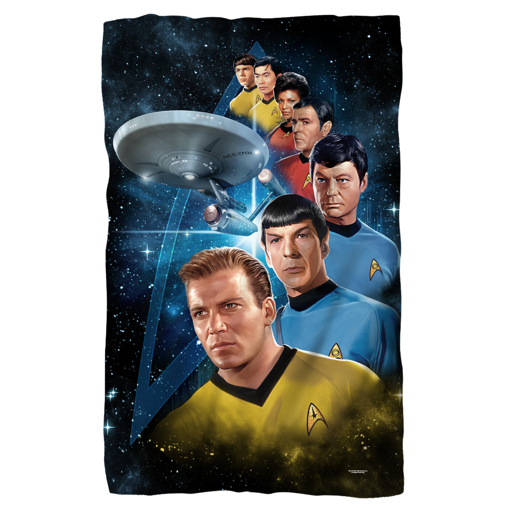 Star Trek Among The Stars Poly 36X60 Blanket White One Size