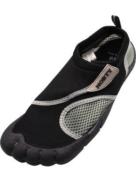 Mens Water Shoes Aqua Socks Surf Yoga Exercise Pool Beach Dance Swim Slip On NEW, 40306 Black-Grey / 11D(M)US