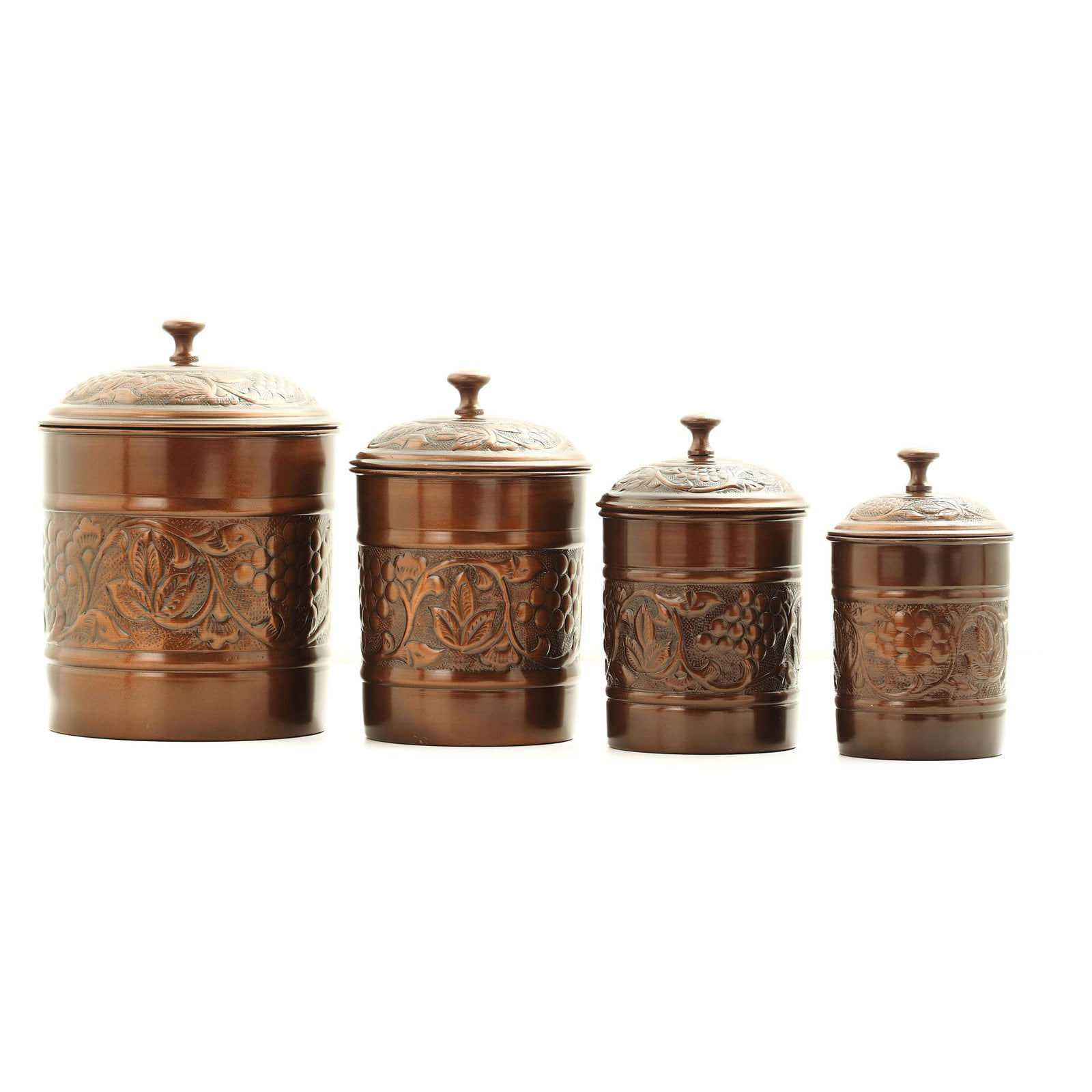 Antique Embossed Heritage Canister Set Com