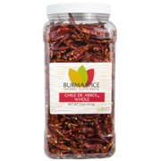 Burma Spice Chile de Arbol, Whole | Potent Mexican Chili Pepper | Smoky, Slightly Earthy Flavor 0.7 oz.