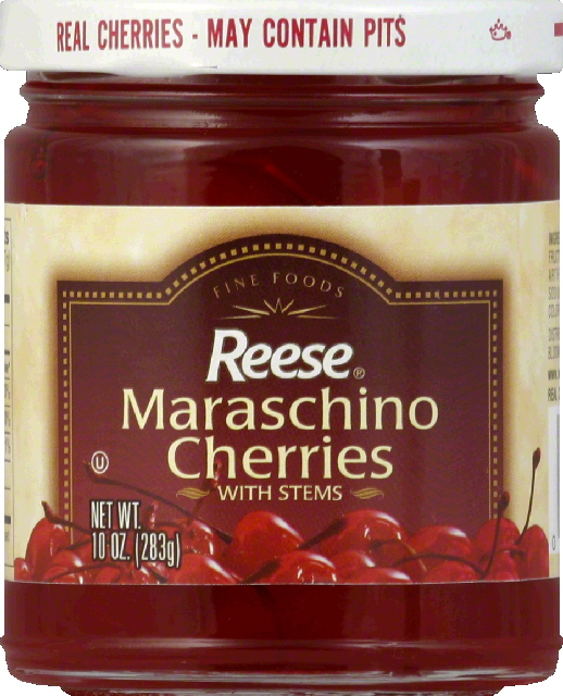Reese Maraschino Cherries, with Stems by REESE