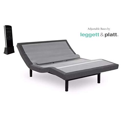 Prodigy Comfort Elite Adjustable Bed Base with Lumbar Support, Black Finish, Queen
