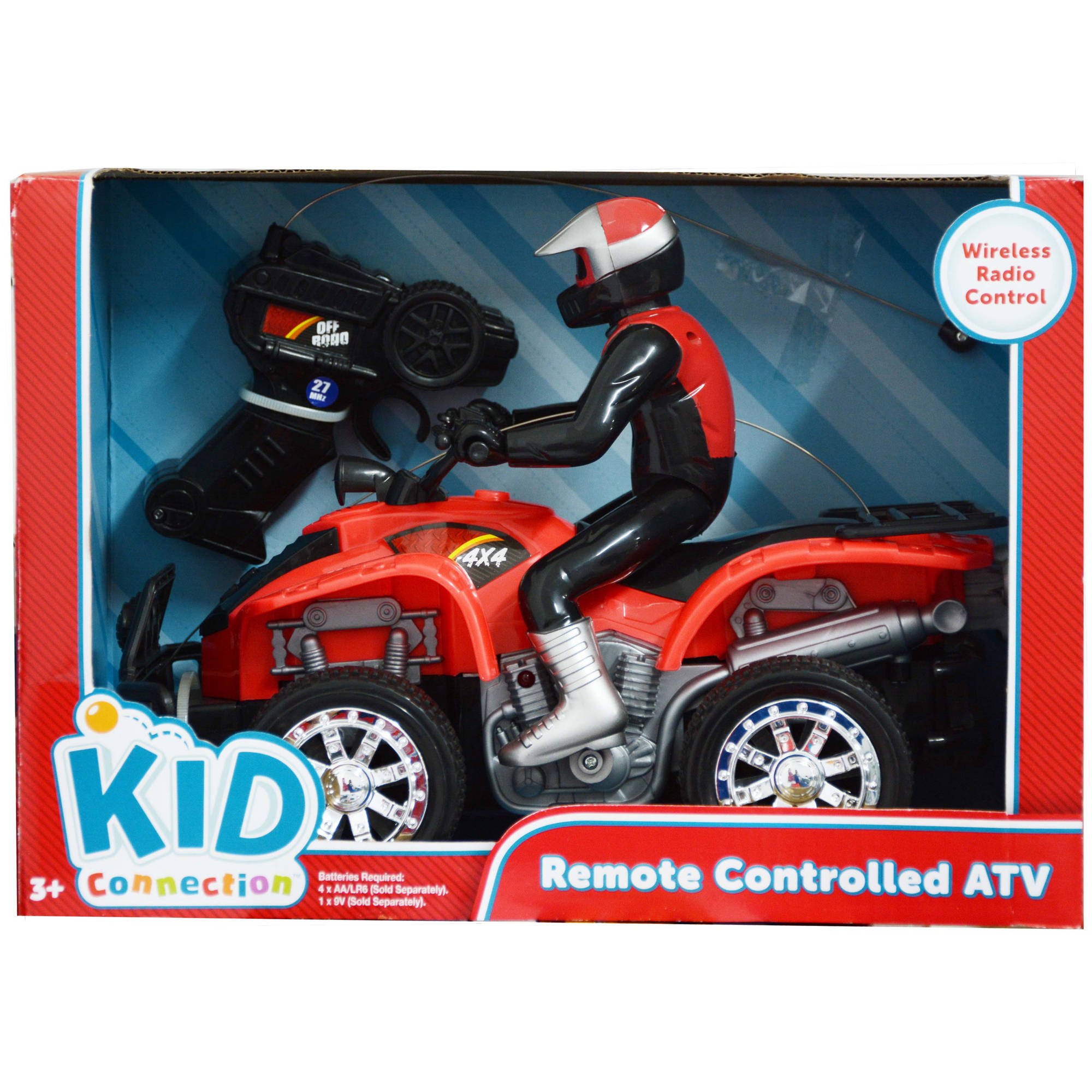 Kid Connection Radio Control ATV, Red