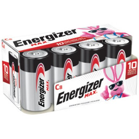 Energizer MAX Alkaline, C Batteries, 8 Pack Cto 9 Cell Battery